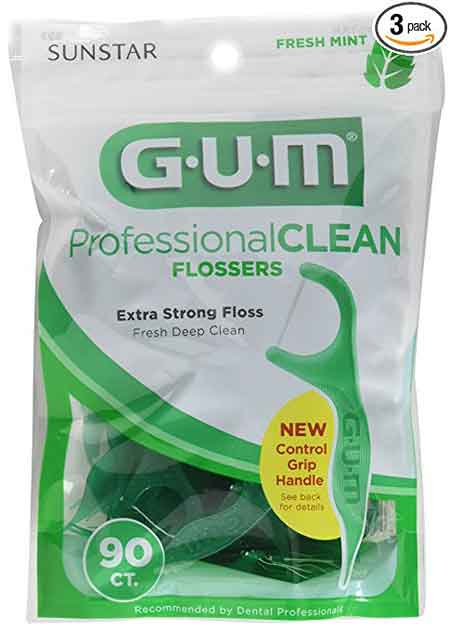 Gum Professional Clean Flossers Fresh Mint