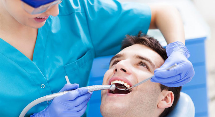 professional dental care by a dentist
